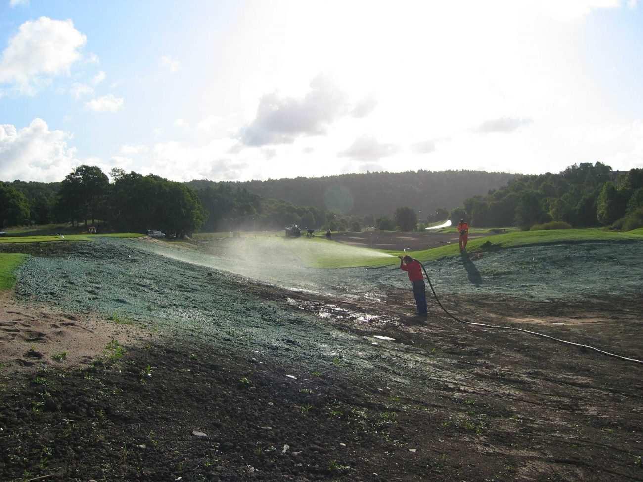 Hydroseeding çim ekimi uygulaması