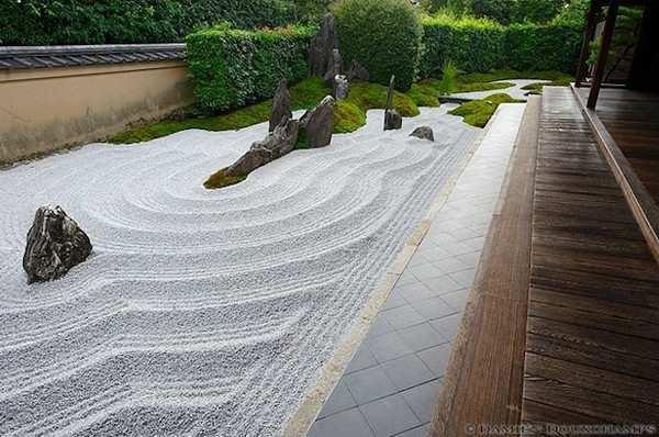 Peyzaj elemanları zen bahçesi