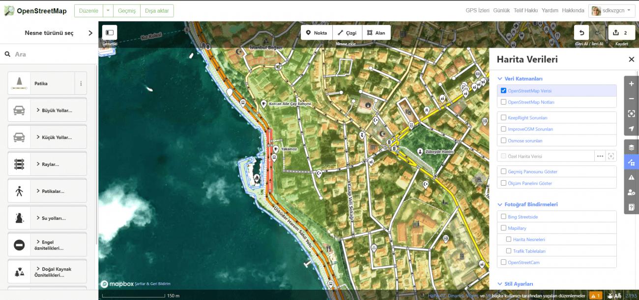 openstreet harita analizi